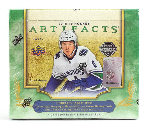 2018-19 Upper Deck Artifacts Hockey Hobby Box (Case of 10)