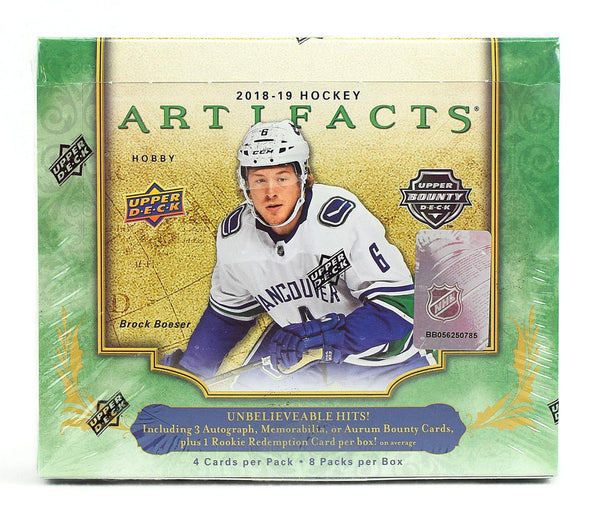 2018-19 Upper Deck Artifacts Hockey Hobby Box (Case of 10) - BigBoi Cards