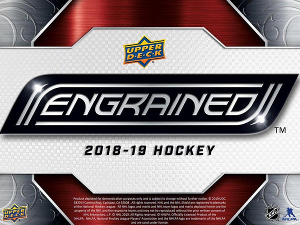 2018-19 Upper Deck Engrained Hockey Hobby Box - BigBoi Cards
