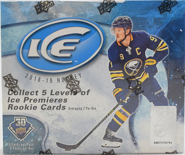 2018-19 Upper Deck Ice Hockey Hobby Box ( Case of 10 ) - BigBoi Cards
