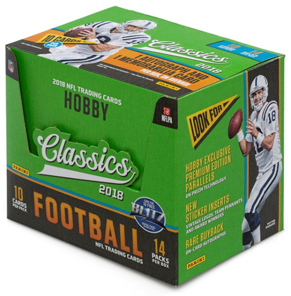 2018 Panini Classics Football Factory Sealed Hobby Box - BigBoi Cards