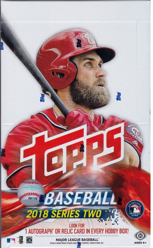 2018 Topps Series 2 Baseball Hobby Sealed Box + 1 Silver Pack Free