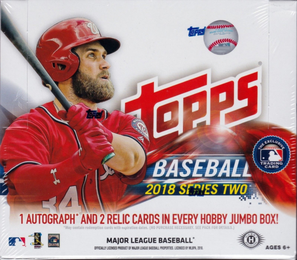 2018 Topps Series 2 Baseball Hobby Jumbo Sealed Box - BigBoi Cards