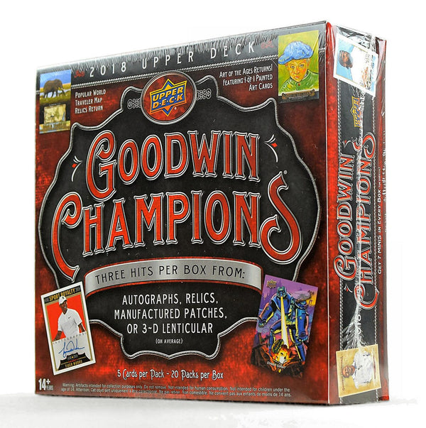 2018 Upper Deck Goodwin Champions Hobby Box - BigBoi Cards