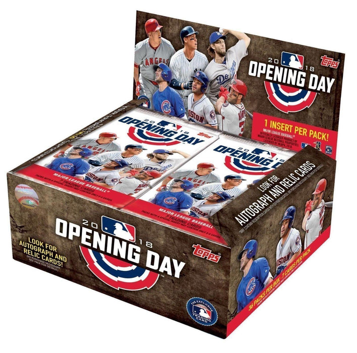 2018 Topps Opening Day Baseball Sealed Hobby Box - Quecan Distribution