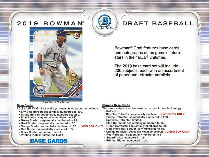 2019 Bowman Draft Baseball Hobby Jumbo Box - BigBoi Cards