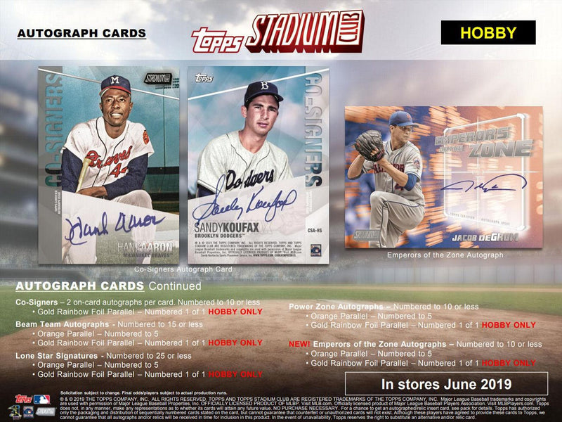 2019 Topps Stadium Club BLACK FOIL Parallel SP Cards You Pick Complete Your Set