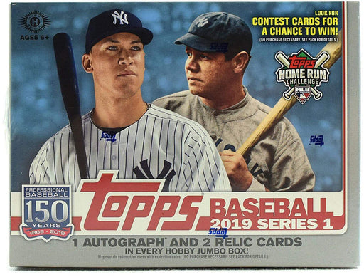 2019 Topps Series 1 Baseball Hobby Jumbo Box - Quecan Distribution