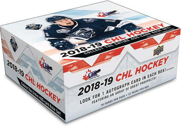 2018-19 Upper Deck CHL Hockey Hobby Sealed Box - BigBoi Cards