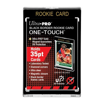 Ultra Pro One Touch Black Border Rookie Card Magnetic Holder 35pt (Lot of 5) - BigBoi Cards