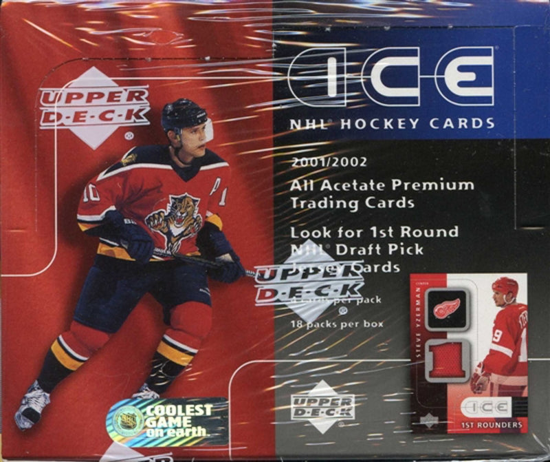2001-02 Upper Deck Ice Hockey Hobby Box - BigBoi Cards