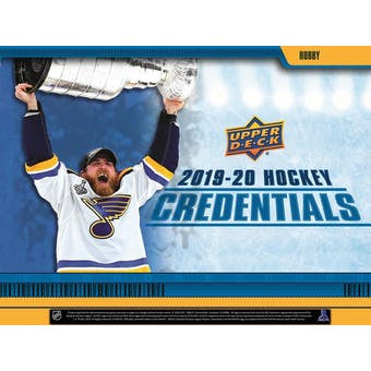 2019-20 Upper Deck Credentials Hockey Hobby Box - BigBoi Cards