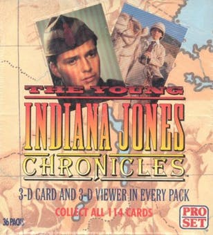 The Young Indiana Jones Chronicles Hobby Box (1992 Pro Set) - Quecan Distribution
