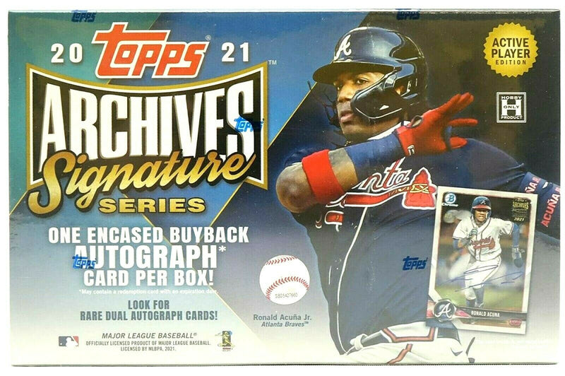 2021 Topps Archives Signature Series  Baseball Hobby  Box - BigBoi Cards