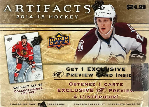 2014-15 Upper Deck Artifacts NHL Hockey Blaster Box