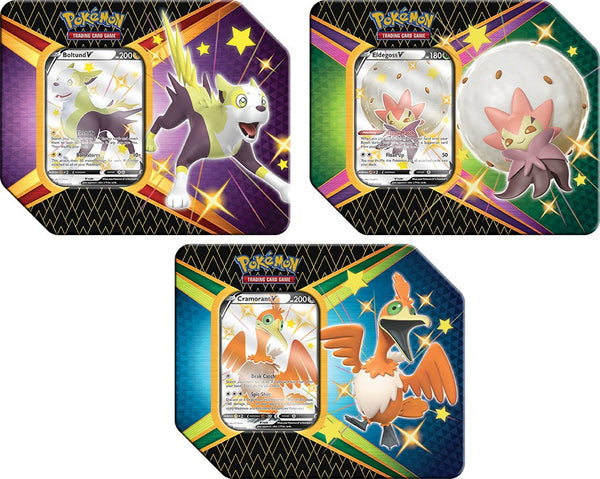 okemon Shining Fates Random V Tin (Set of 3) - BigBoi Cards