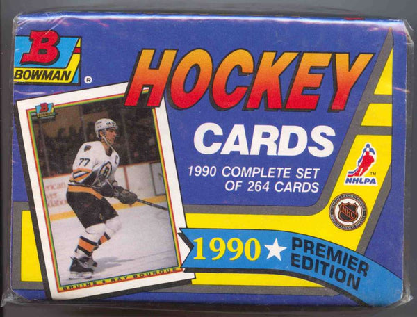 1990-91 Bowman Hockey Factory Set Premier Edition Box - BigBoi Cards