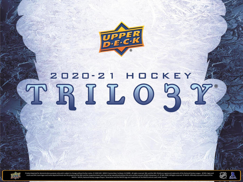 2020-21 Upper Deck Trilogy Hockey Hobby Box (Pre-Order) - Miraj Trading