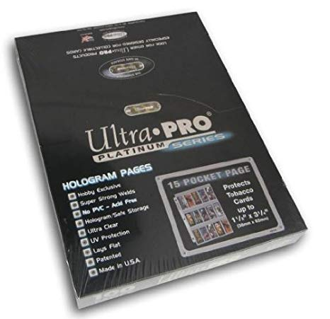 Ultra Pro 15-Pocket Platinum Pages (Tobacco Sized Cards) - BigBoi Cards