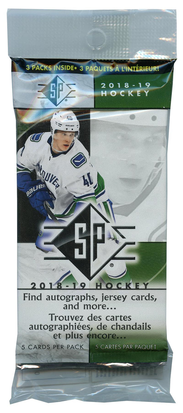2018-19 Upper Deck SP Hockey Hanger Pack (5 Hanger Packs a Lot) - BigBoi Cards