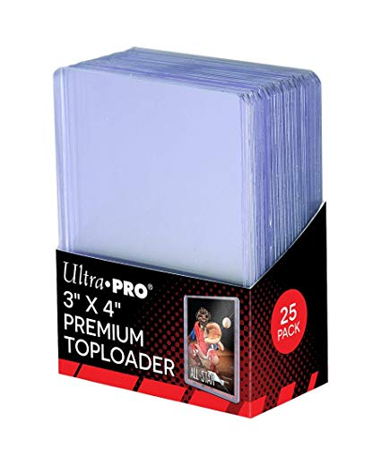 "Ultra Pro Toploaders 3""x4"" Premium Packs (Lot of 5)"