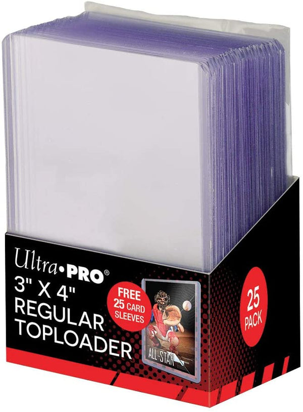 "Ultra Pro Regular Toploaders 3"" x 4"" - With 25 Card Sleeves (Lot of 5) - BigBoi Cards"