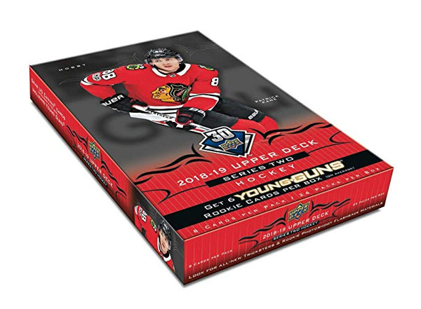 2018-19 Upper Deck Series 2 Hockey Hobby Box (Case of  12) - BigBoi Cards