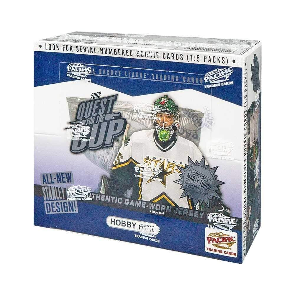 2002-03 Pacific Quest For The Cup Hockey Hobby Box