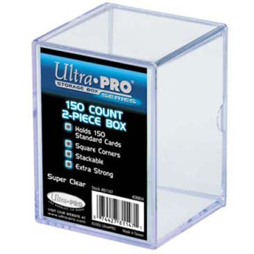 Ultra Pro 2-Piece 150 Count Clear Card Storage Box - Lot of 5 Storage Boxes - BigBoi Cards