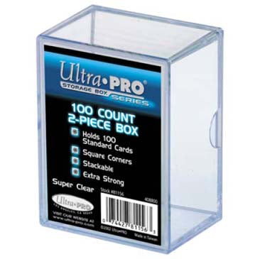 Ultra Pro 2-Piece 100 Count Clear Card Storage Box - Lot of 5 Storage Boxes - BigBoi Cards