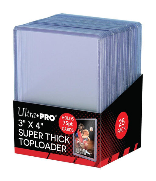 "Ultra Pro Super Thick Toploaders 75pt. 3""x 4"" (Lot of 5)"
