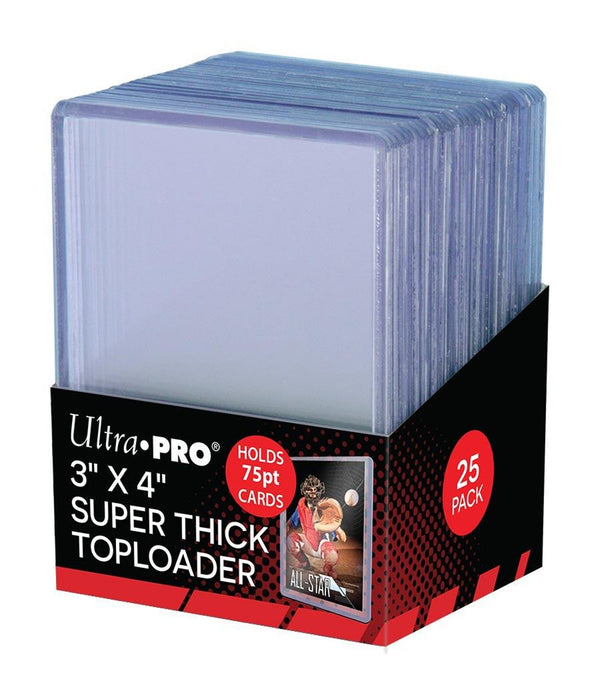 "Ultra Pro Super Thick Toploaders 75pt. 3""x 4"" (Lot of 5) - BigBoi Cards"