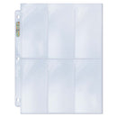 "Ultra Pro 6-Pocket Platinum Page with 2-1/2"" X 5-1/4"" Pockets - BigBoi Cards"