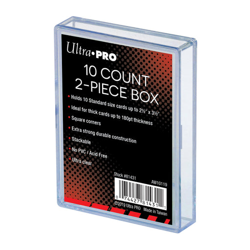 Ultra Pro 2-Piece 10 Count Clear Card Storage Box  (Lot of 10)