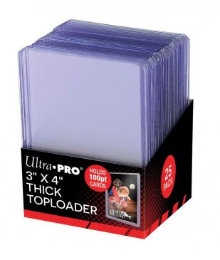 "Ultra Pro Thick Toploaders 100pt. 3"" X 4"" (Lot of 5) - BigBoi Cards"