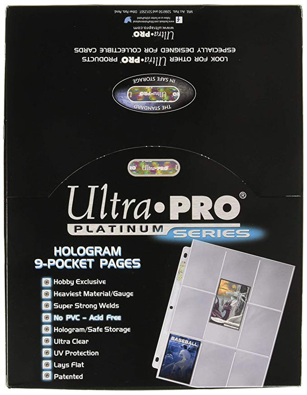 Ultra Pro 9-Pocket Platinum Page for Standard Size Cards - BigBoi Cards