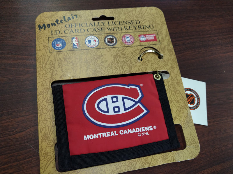 Montreal Canadiens ID Card Case with Key Ring - BigBoi Cards