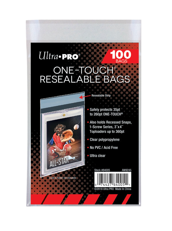 Ultra Pro ONE-TOUCH Resealable Bags (Lot of 5) - BigBoi Cards