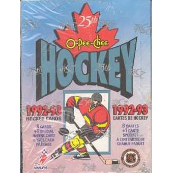1992-93 O-Pee-Chee Hockey Hobby Box - BigBoi Cards