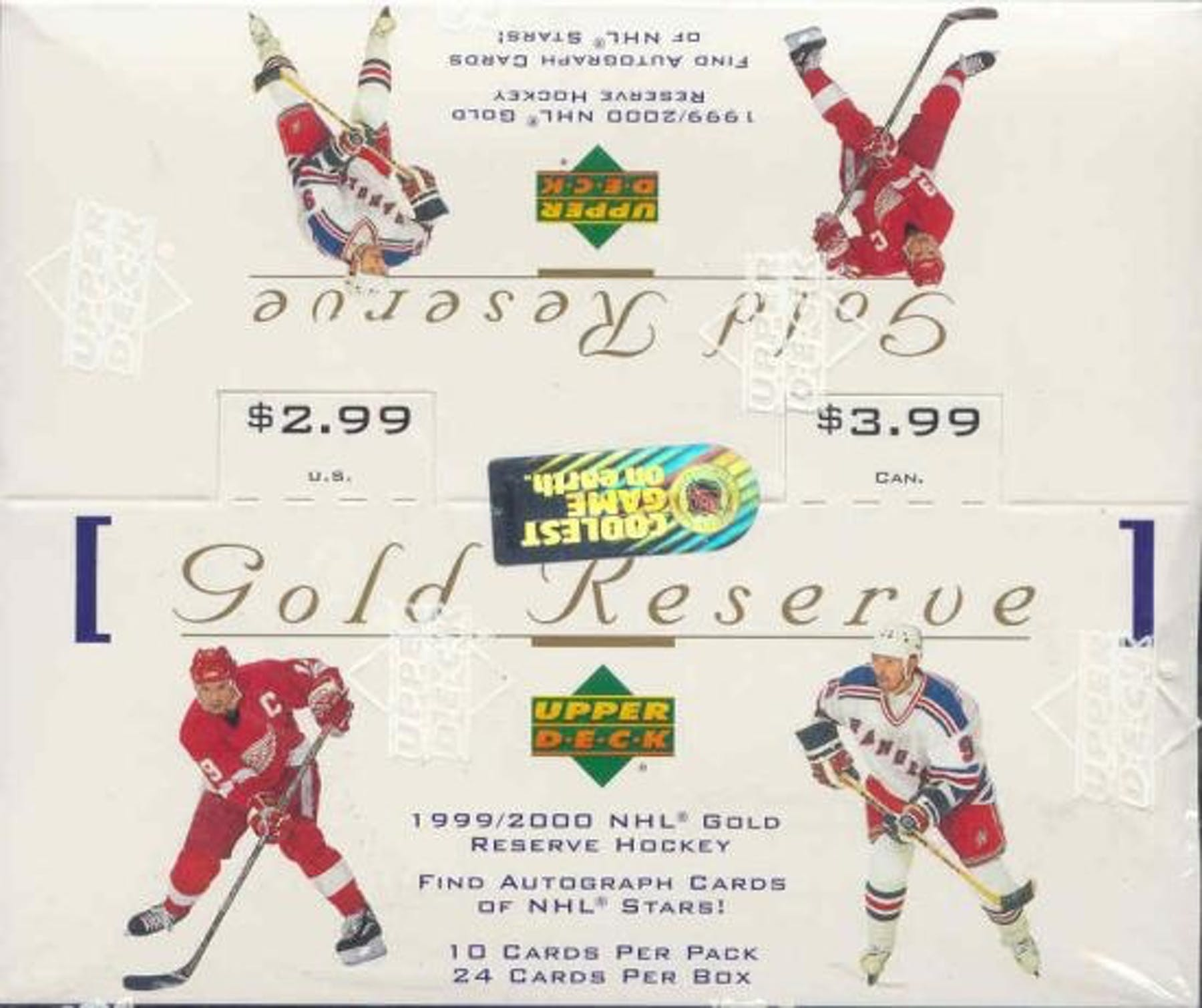 1999-00 Upper Deck Gold Reserve Series 1 Hockey Box