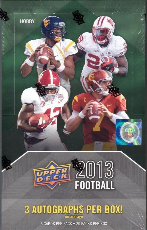 2013 Upper Deck Football Hobby Box - BigBoi Cards
