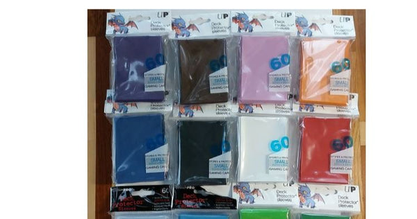 ULTRA PRO - SMALL GAMING CARD PROTECTOR SLEEVES 62MM X 89MM 60CT (Lot of 2)
