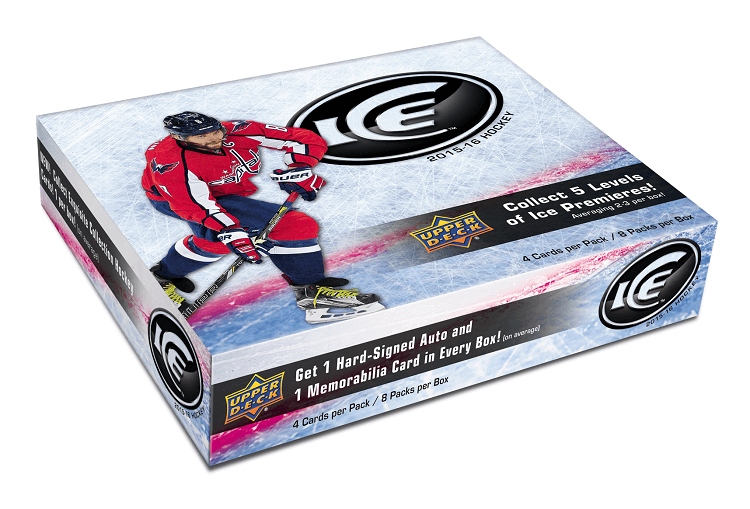 2015-16 Upper Deck Ice Hockey Hobby Box (Case of 8)