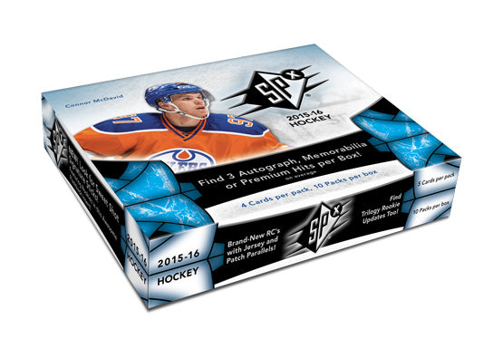2015-16 Upper Deck SPx NHL Hockey Hobby Box (Case of 8)