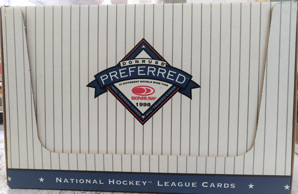 1997-98 Donruss  Preferred Precious Metals Hockey Tin Box (24 tins) - BigBoi Cards
