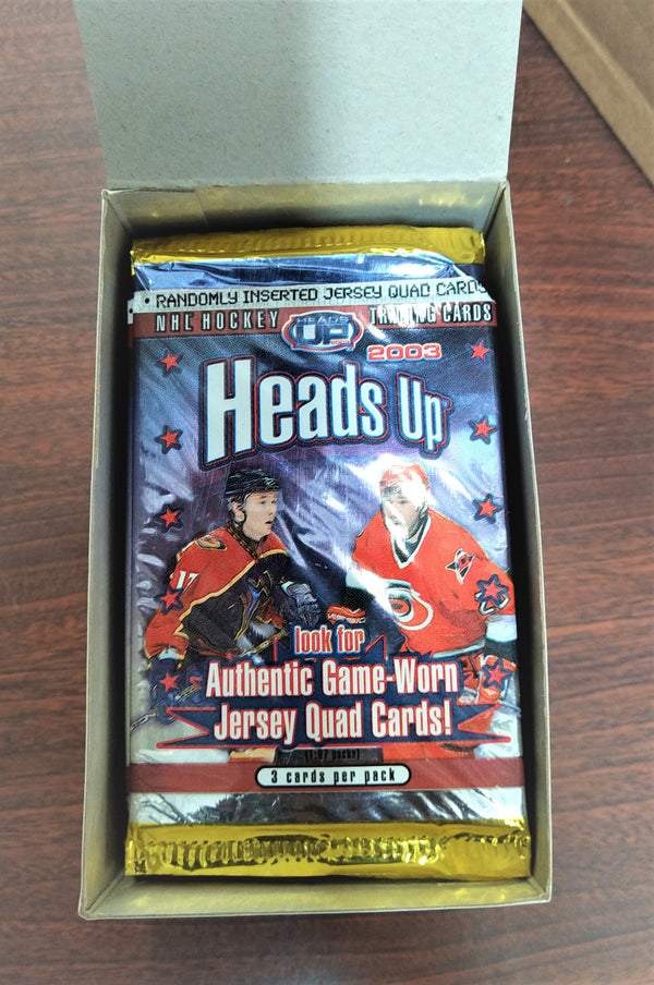 2002-03 Pacific Heads Up Hockey 20 Packs Sealed Box - BigBoi Cards