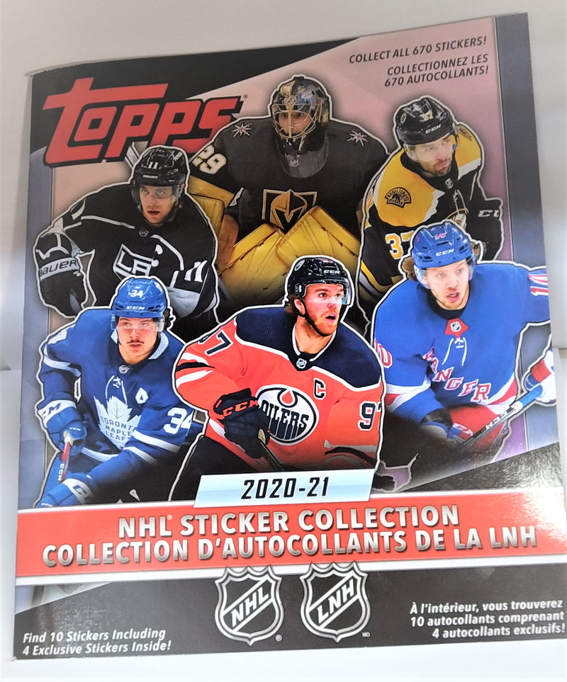 2020-21 Topps NHL Hockey Sticker Album - BigBoi Cards