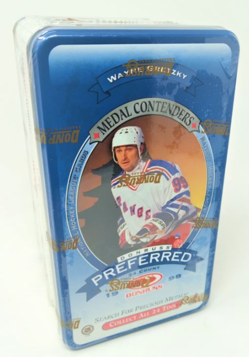 1997-98 Donruss  Preferred Precious Metals Hockey Tin Box (Last Tin !) - BigBoi Cards