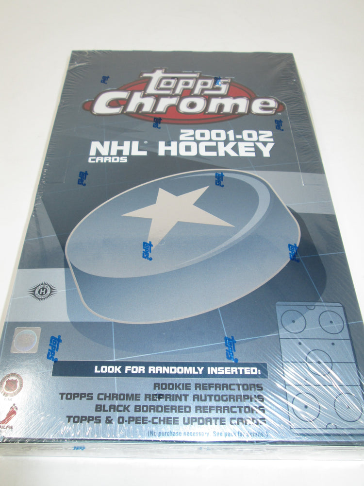 2001-02 Topps Chrome NHL Hockey Hobby Box