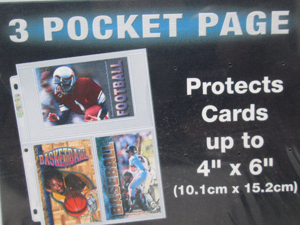 "Ultra Pro 3-Pocket Platinum Page with 4"" X 6"" Pockets - BigBoi Cards"
